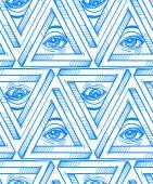 Fotografie All seeing eye seamless pattern.