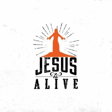 Biblical illustration. Jesus is alive. Easter.