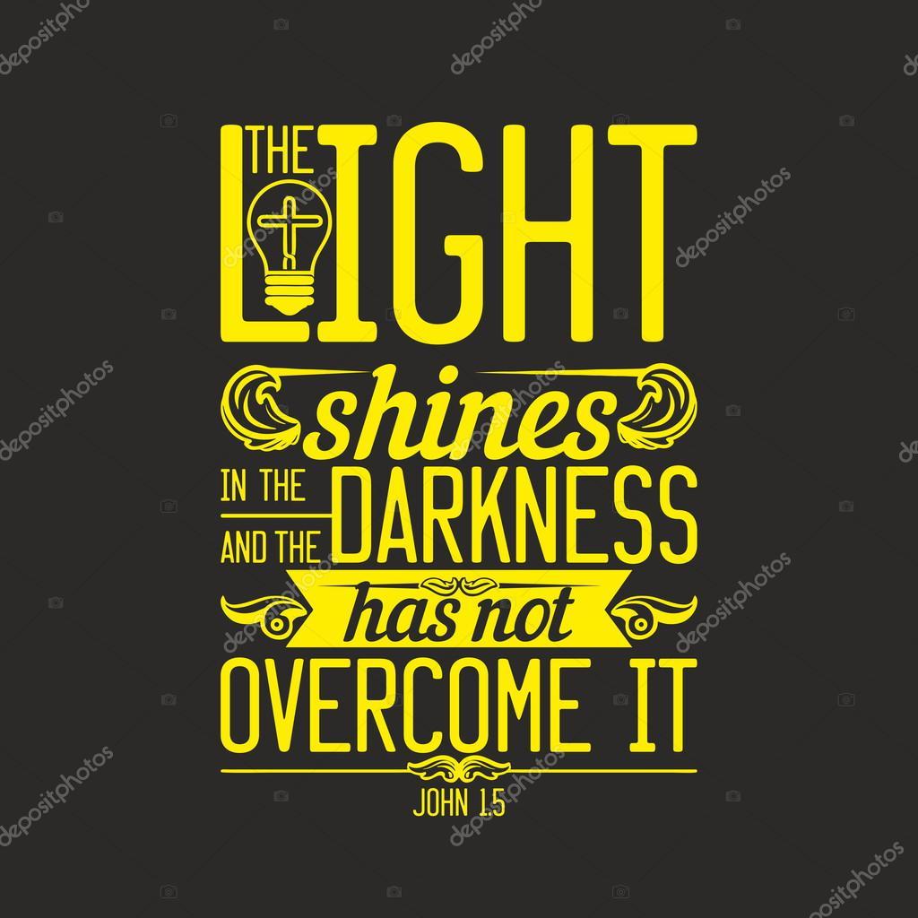 Ilustracji Biblijnej A światłość W Ciemności świeci I Ciemność Jej