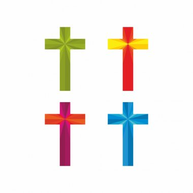 Church logo. Christian symbols. Set of crosses.