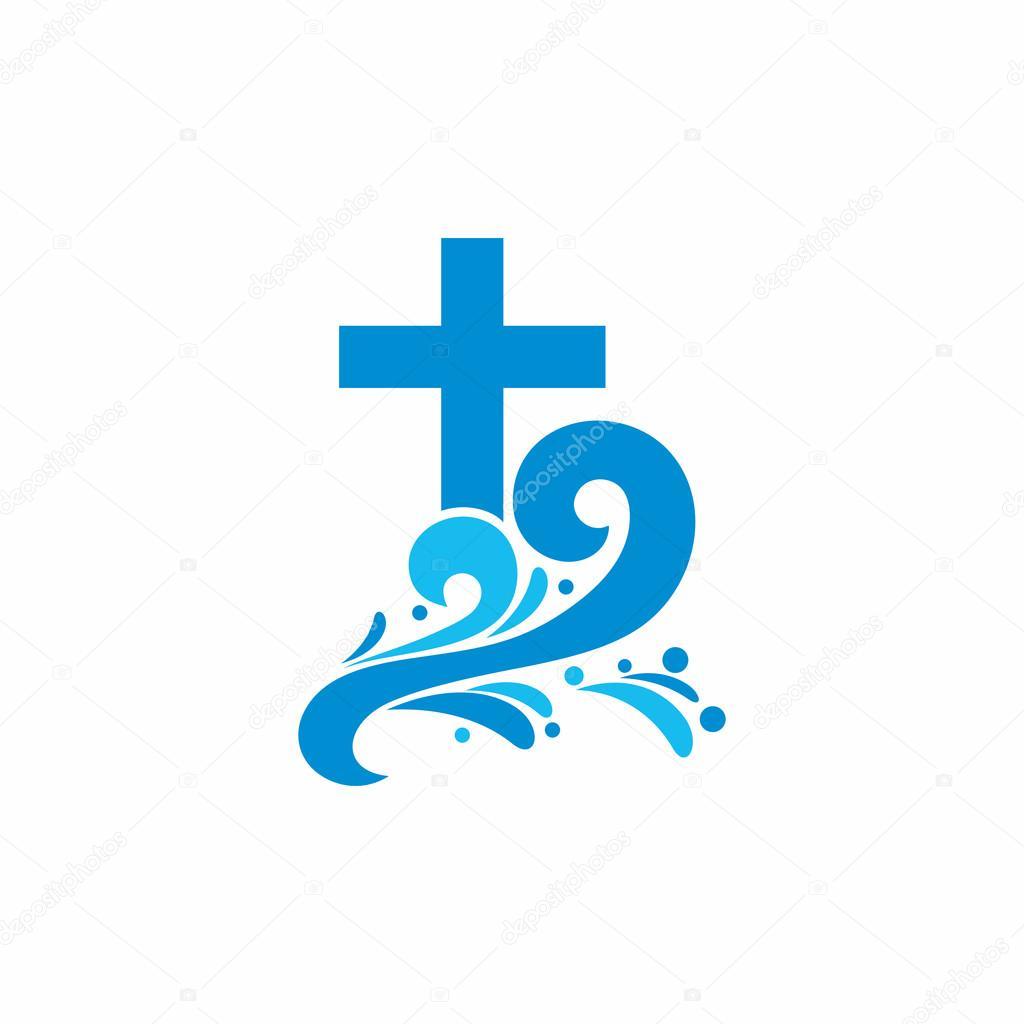 logo kirche christliche symbole kreuz und wellen jesus clipart waves transparent background clip art waves border