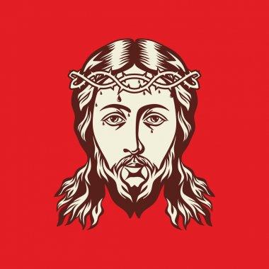 Face of Jesus Christ hand drawn