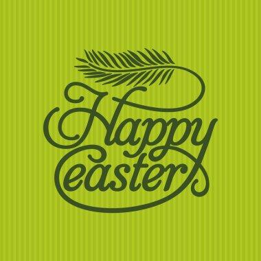 Bible lettering. Christian art. Happy Easter.