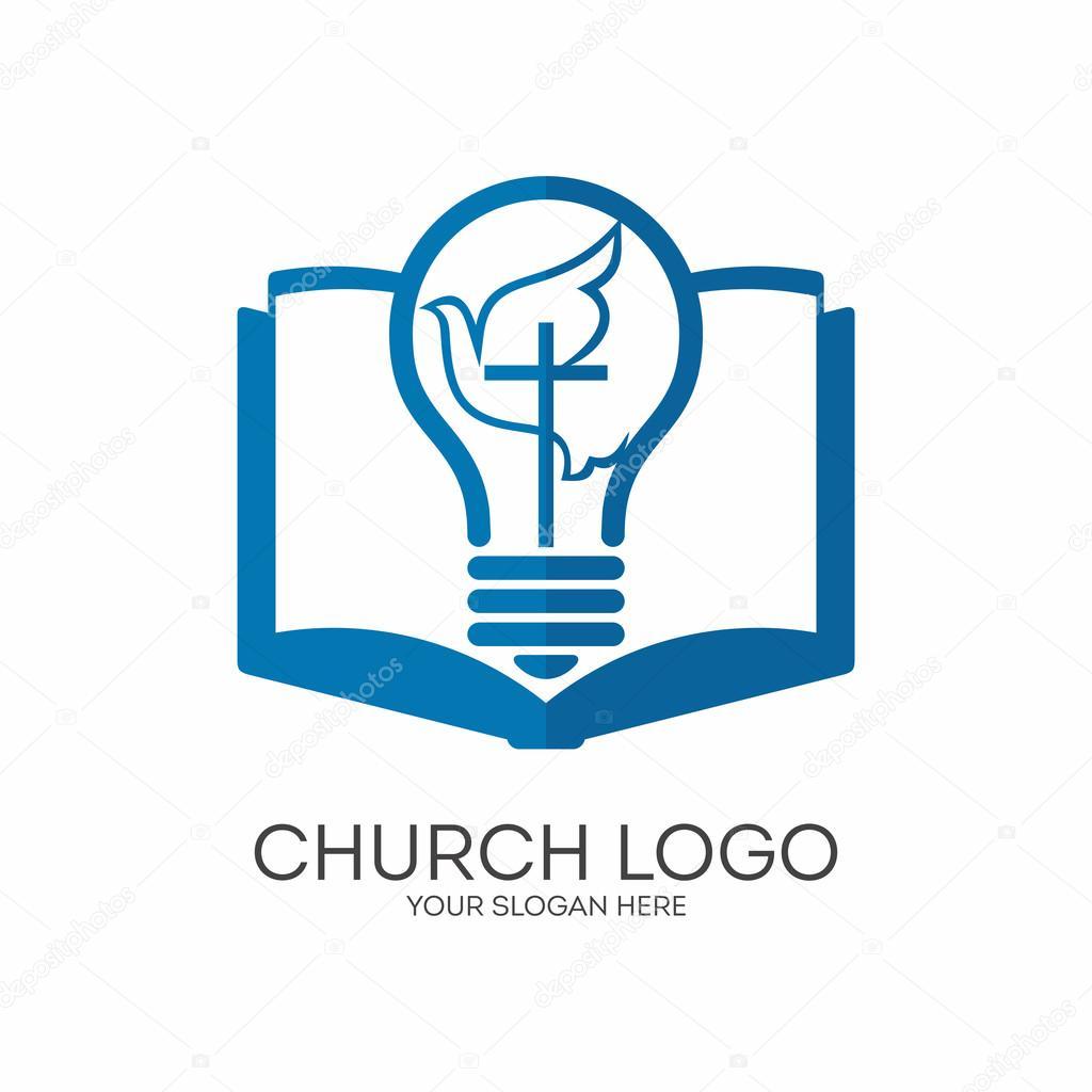 Church Logo Christian Symbols Jesus Light Of The World The Holy