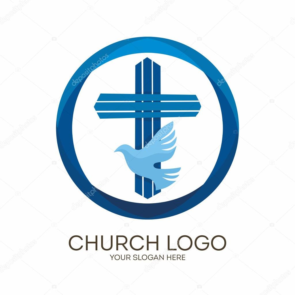 Church logo christian symbols jesus cross and dove the holy church logo christian symbols jesus cross and dove the holy spirit vector by biblebox altavistaventures Images