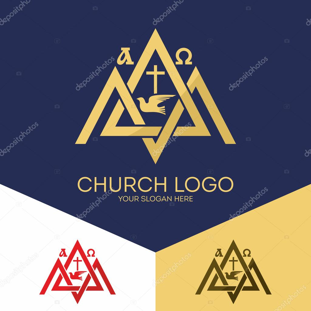 Church Logo Christian Symbols Mount Zion The Alpha And Omega The