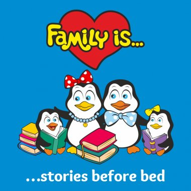 Family of penguins. Family is ...