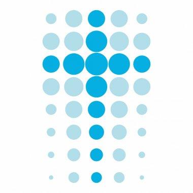 Cross in dots