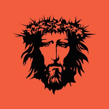 Face of Jesus. Hand drawn art.
