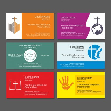 Set Christian business cards. For the church, the ministry, the club and the community.