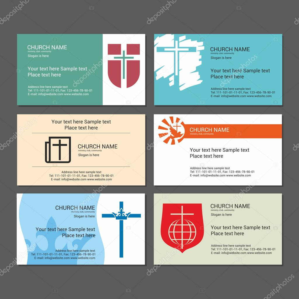 set christian business cards for the church the ministry