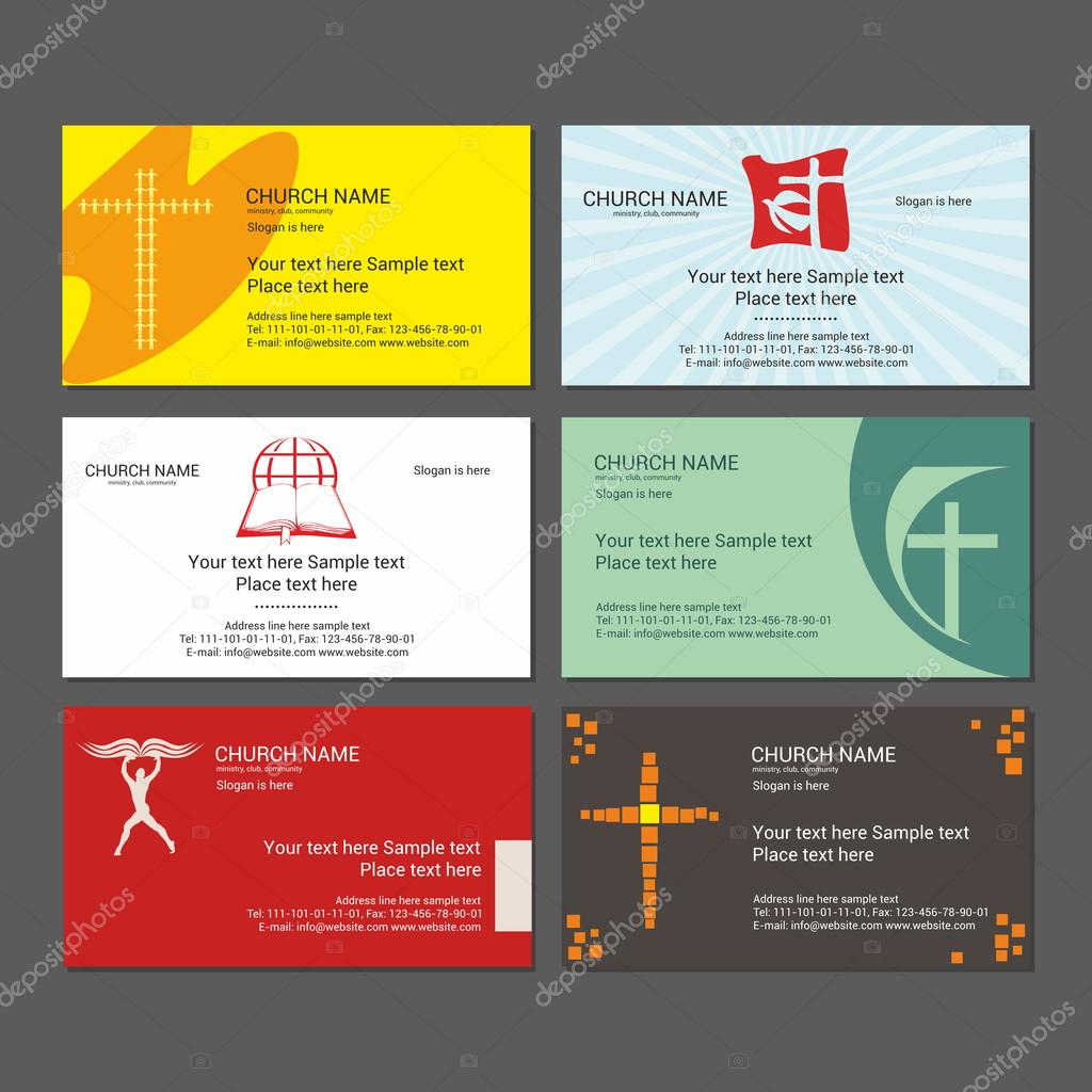 Set Christian business cards. For the church, the ministry, the club ...