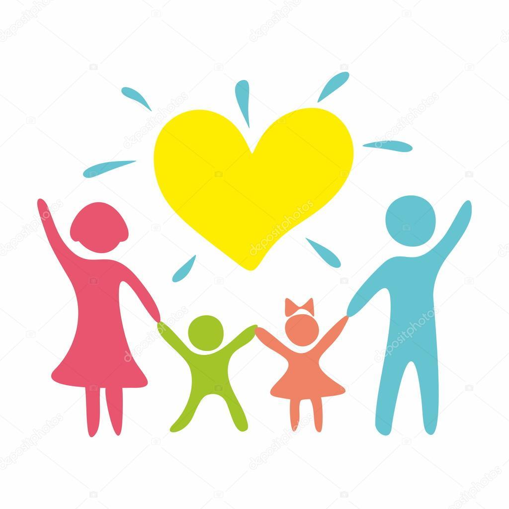 Familia En El Amor Archivo Imágenes Vectoriales Biblebox 86670928