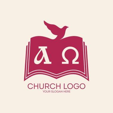 Church logo. Dove and bible
