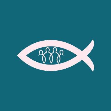 Church logo. Christian fellowship icon
