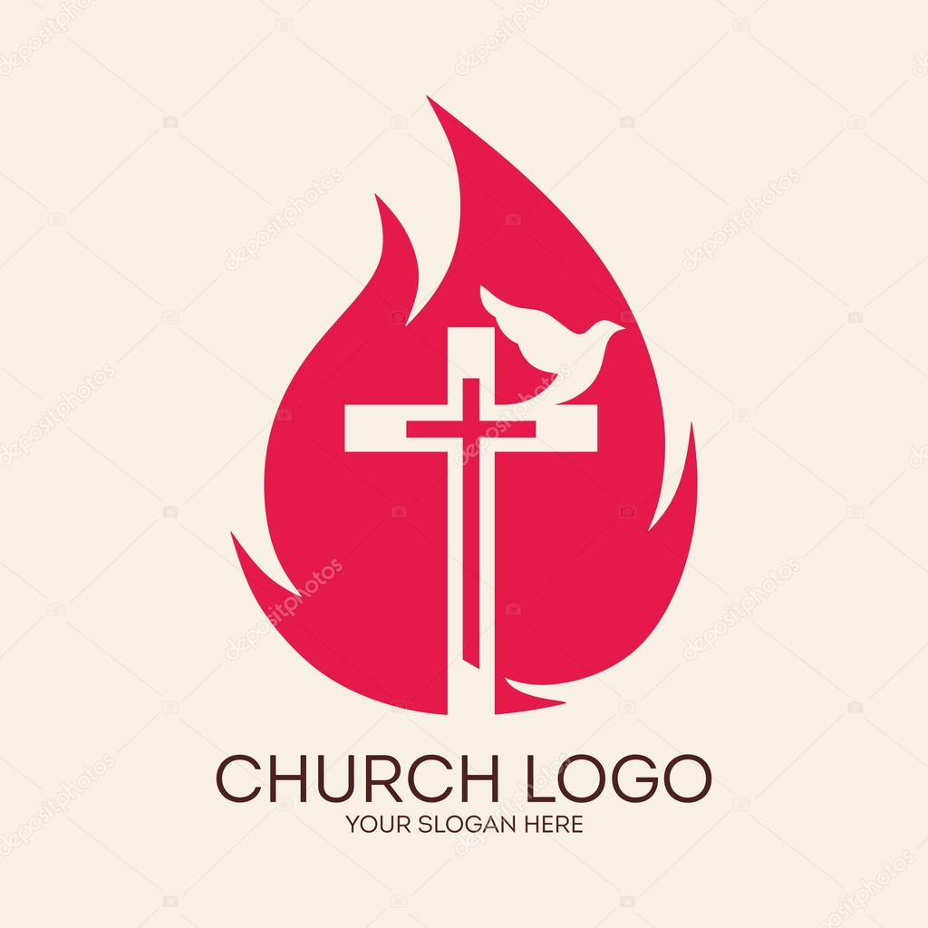Church logo cross flames dove pentecost symbol icon holy church logo cross flames dove pentecost symbol icon holy altavistaventures Images