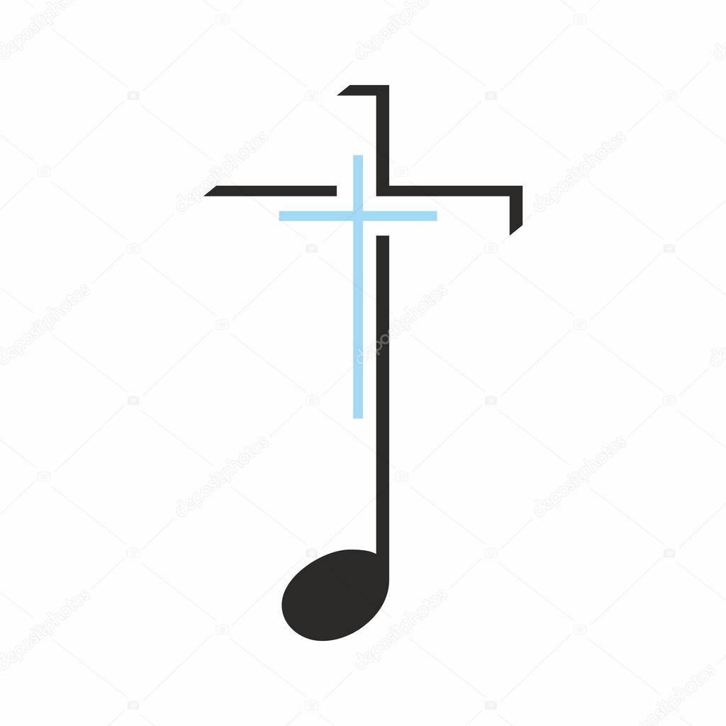 Church logo cross on a music note stock vector biblebox 86738726 cross on a music note stock vector biocorpaavc Gallery