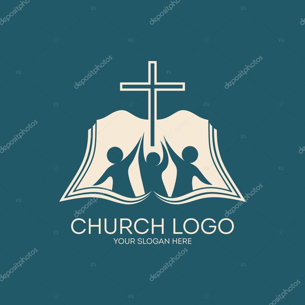Copyright Symbol In Golden Color: Church Logo. Membership, Bible, Fellowship, People