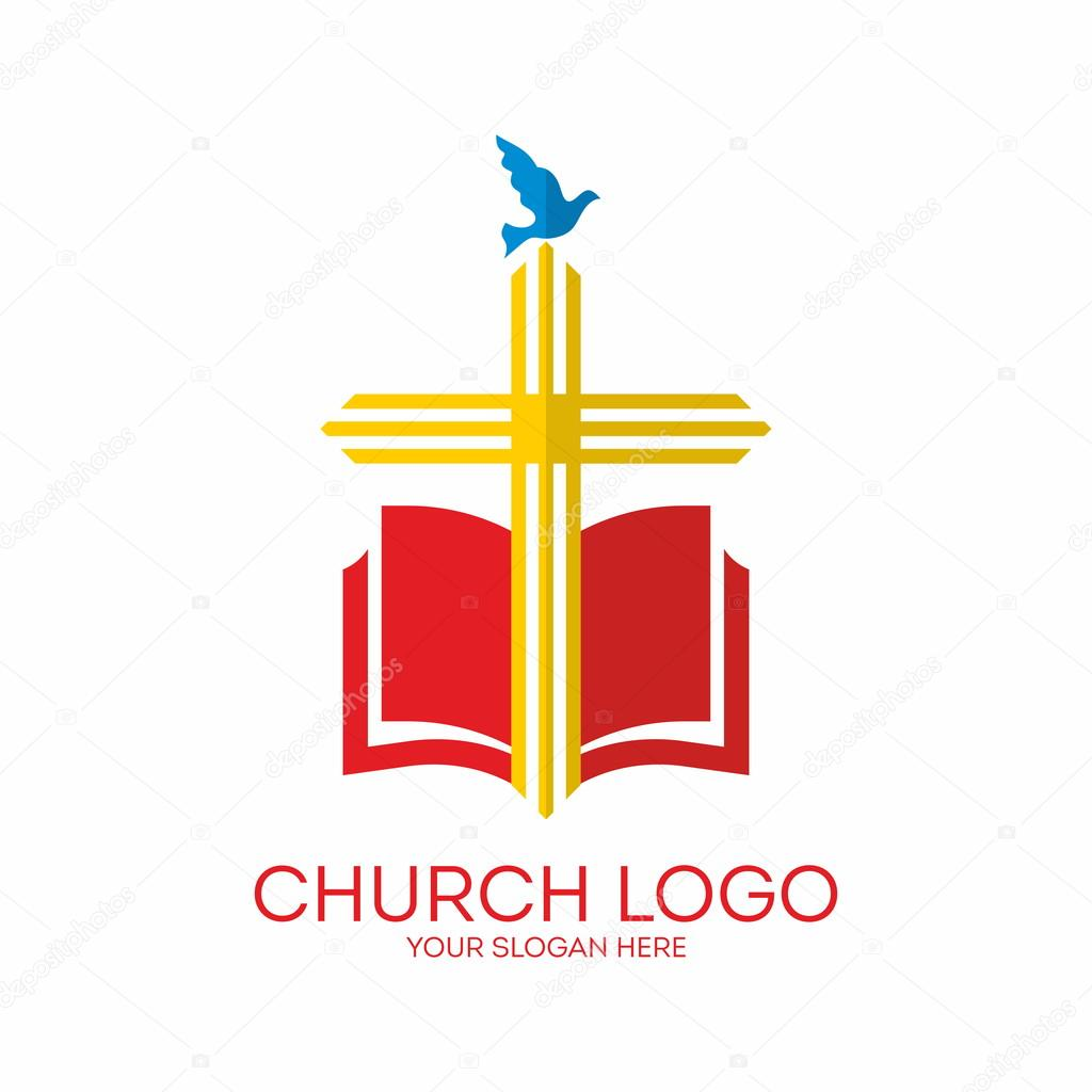 Church logo cross bible dove icon red yellow blue stock church logo cross bible dove icon red yellow blue vector by biblebox thecheapjerseys Images
