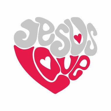 Jesus love heart