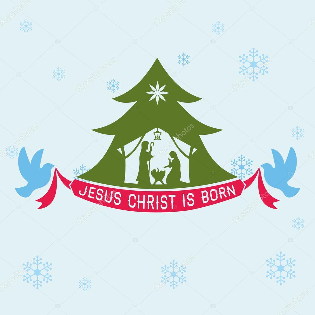 Merry Christmas. Jesus Christ is born — Stock Vector © biblebox ...
