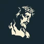 Ježíši. Trnová koruna. Ručně kreslenou.