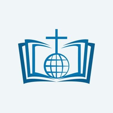 Cross, globe, and Bible