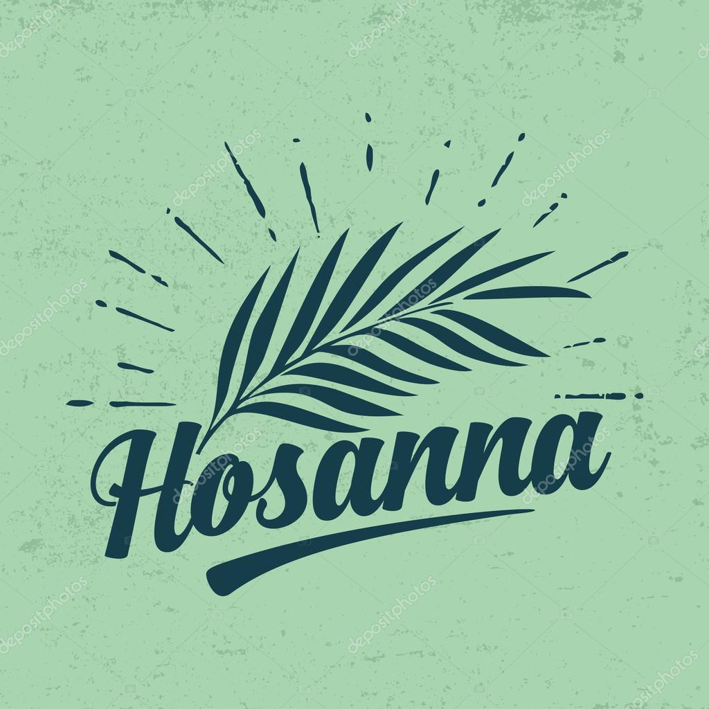 hosanna and palm frond � stock vector 169 biblebox 87988546