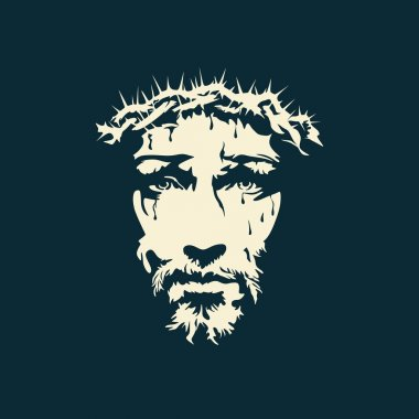 Face of Christ hand drawn
