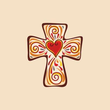 Cross of Jesus Christ stock vector