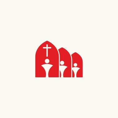 Church logo. Membership in Christ