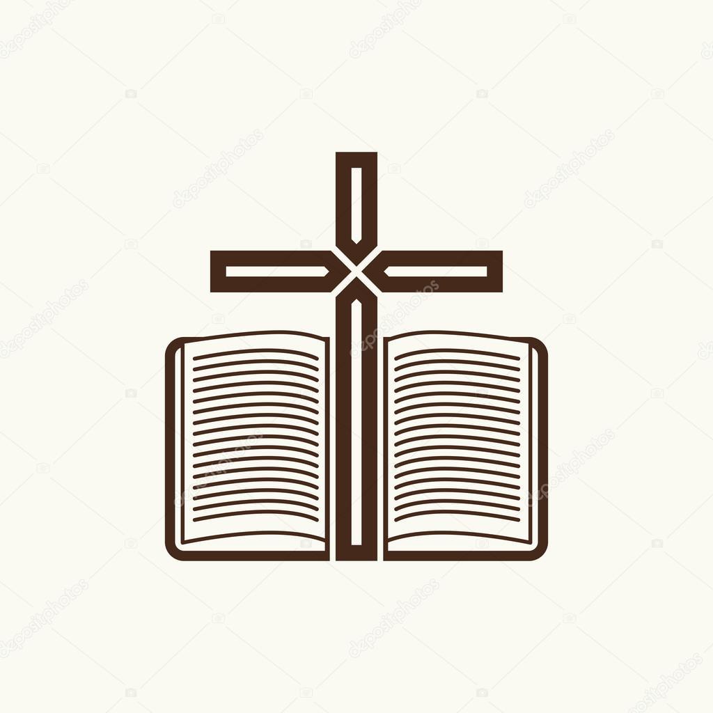 Imágenes Biblia Y Cruz Logo De La Iglesia La Cruz Y La Biblia