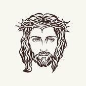 Fotografie Tvář Ježíše ručně kreslenou