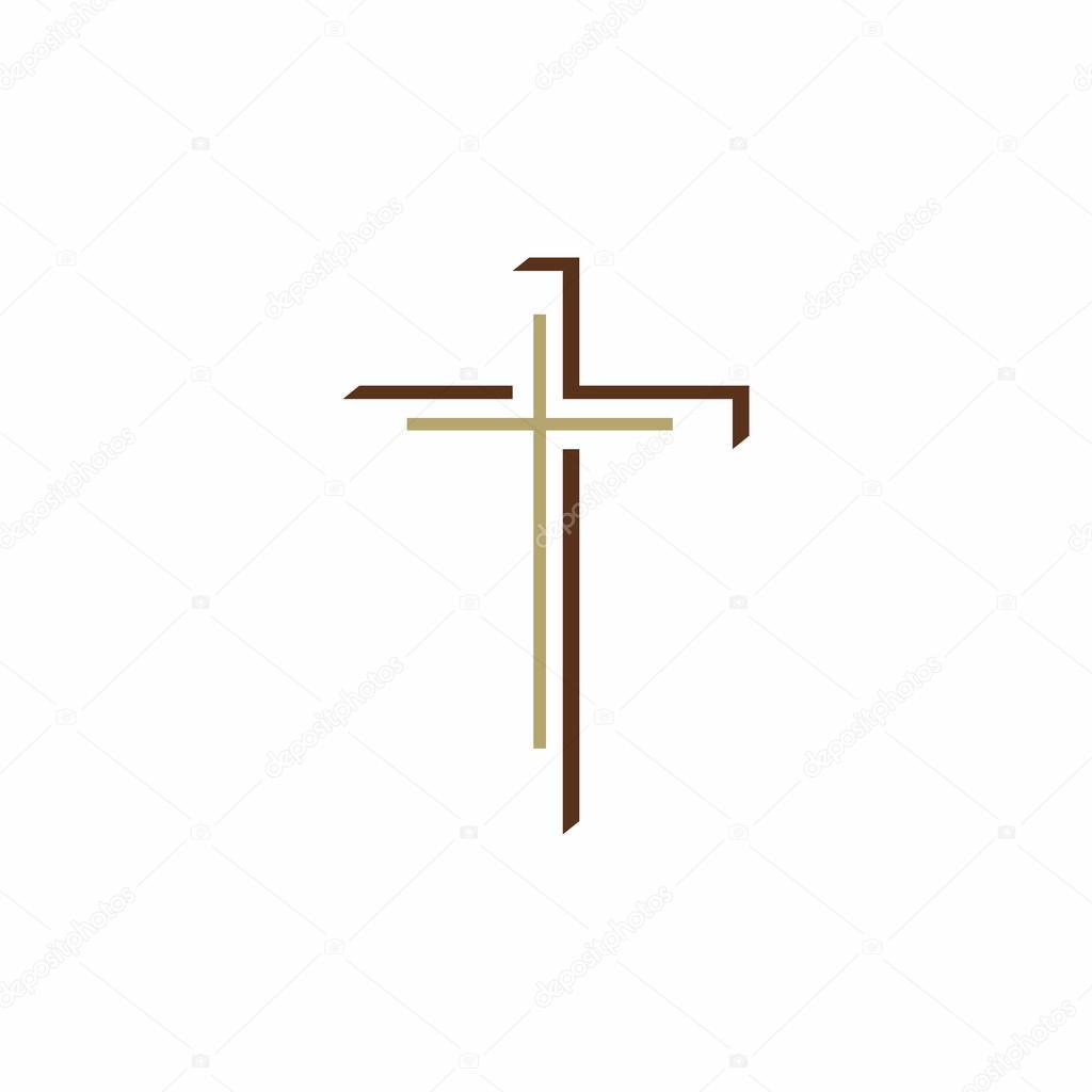 church logo christian cross � stock vector 169 biblebox