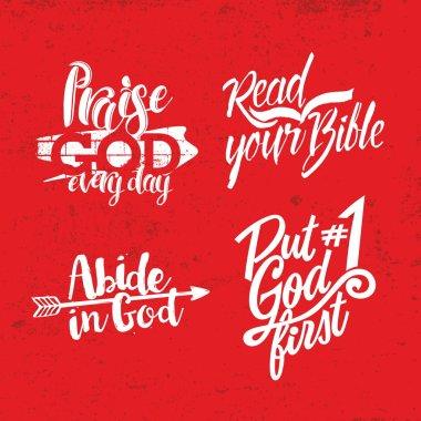 Christian phrase. Lettering. Words