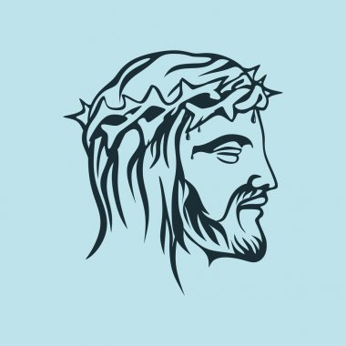 Face of Jesus Christ, hand drawn