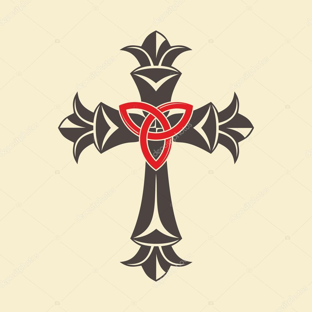 Christian Cross And Trinity Symbol Stock Vector Biblebox 94297786