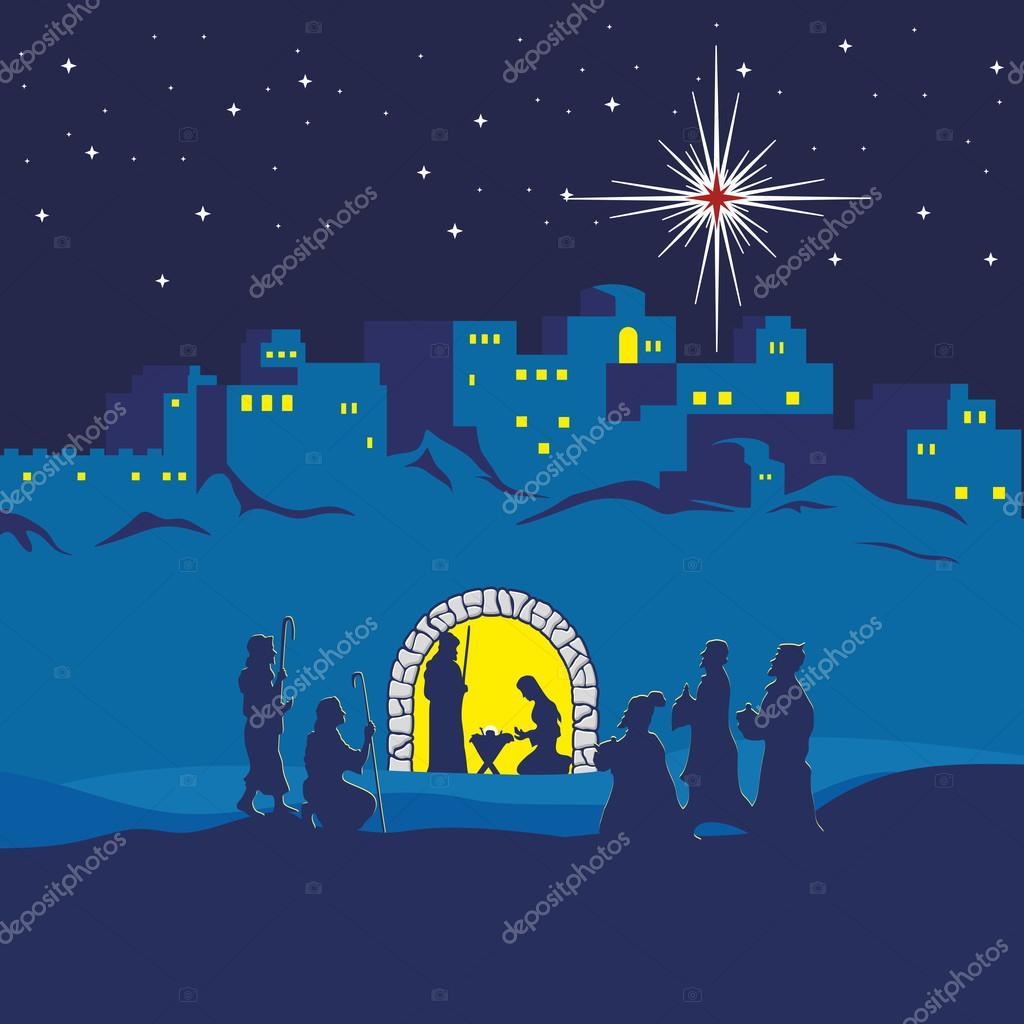 Hirten Bilder Weihnachten.Weihnachtskrippe Weihnachten Bethlehem Maria Josef Und Kleinen