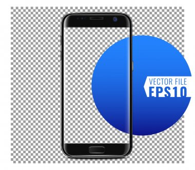 Vector template of smartphone with edge design