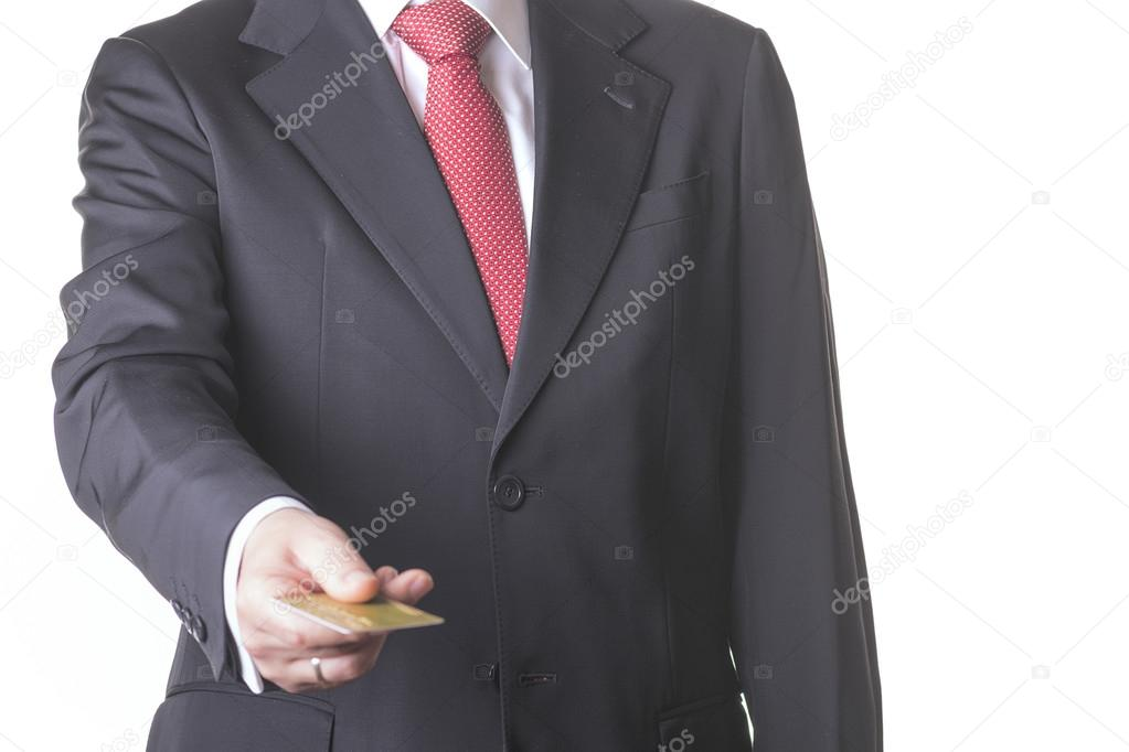 businessman with credit card stock photo esthermm 87438844