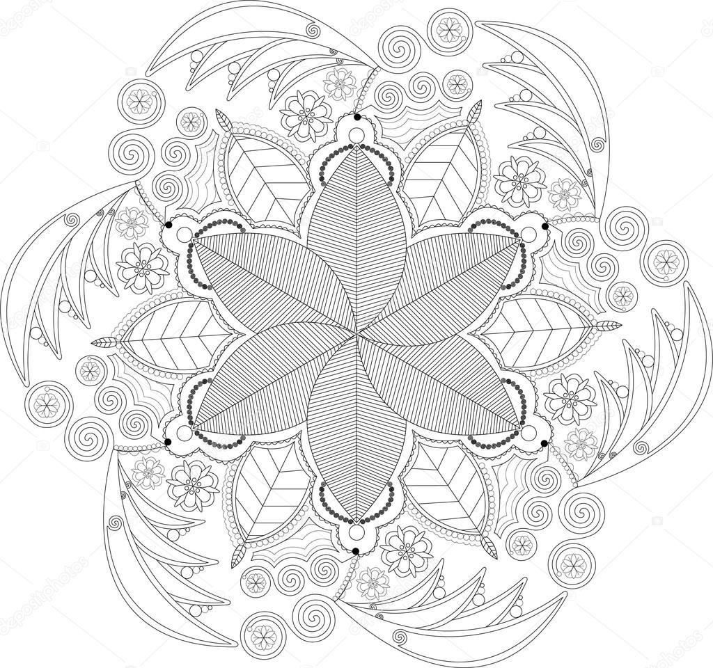 Boyamak Için Mandala Etmek çiçekler Stok Foto Melcastillo 94551982