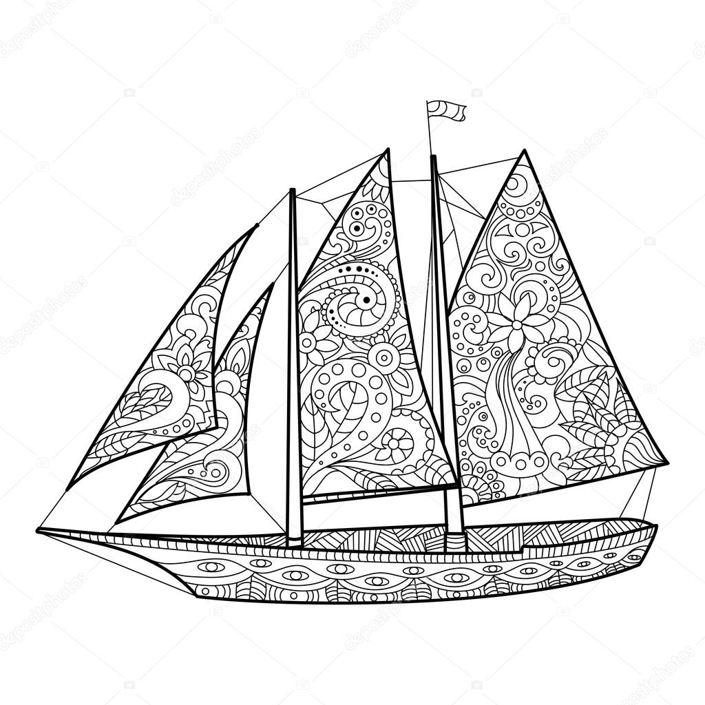 Sailing sport coloring page | Coloring pages | 1024x1024