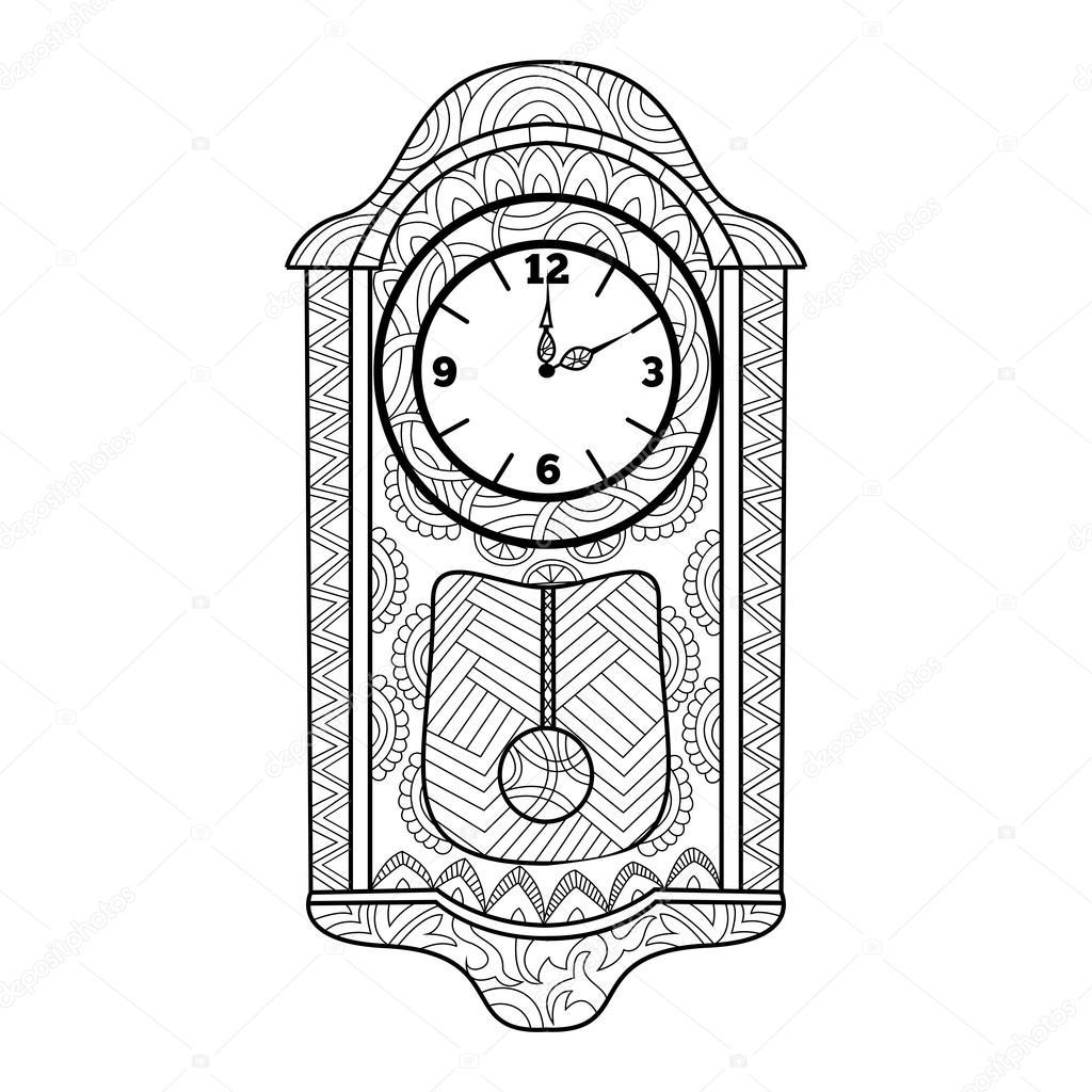 Imágenes Un Reloj De Pendulo Para Colorear Reloj De