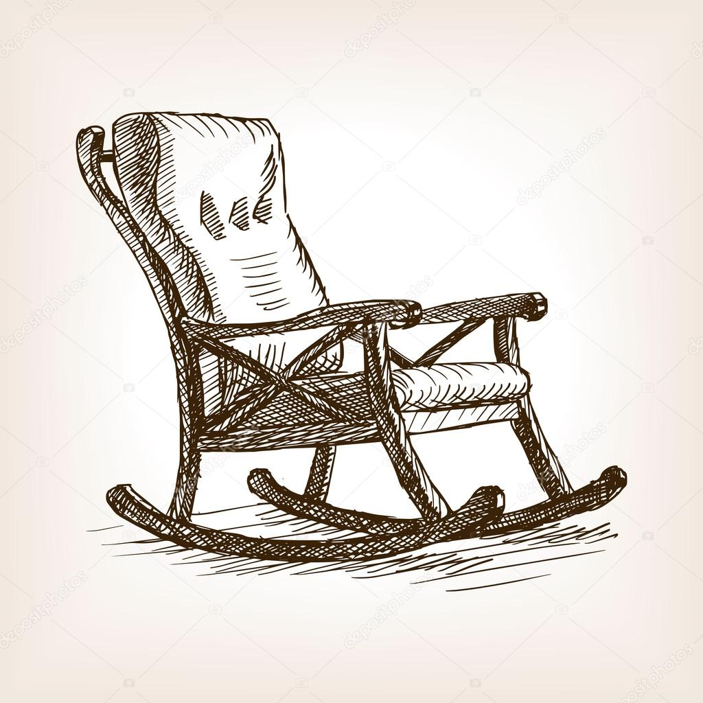 Sallanan sandalye kroki tarz vekt r izim stok vekt r for Silla para dibujar