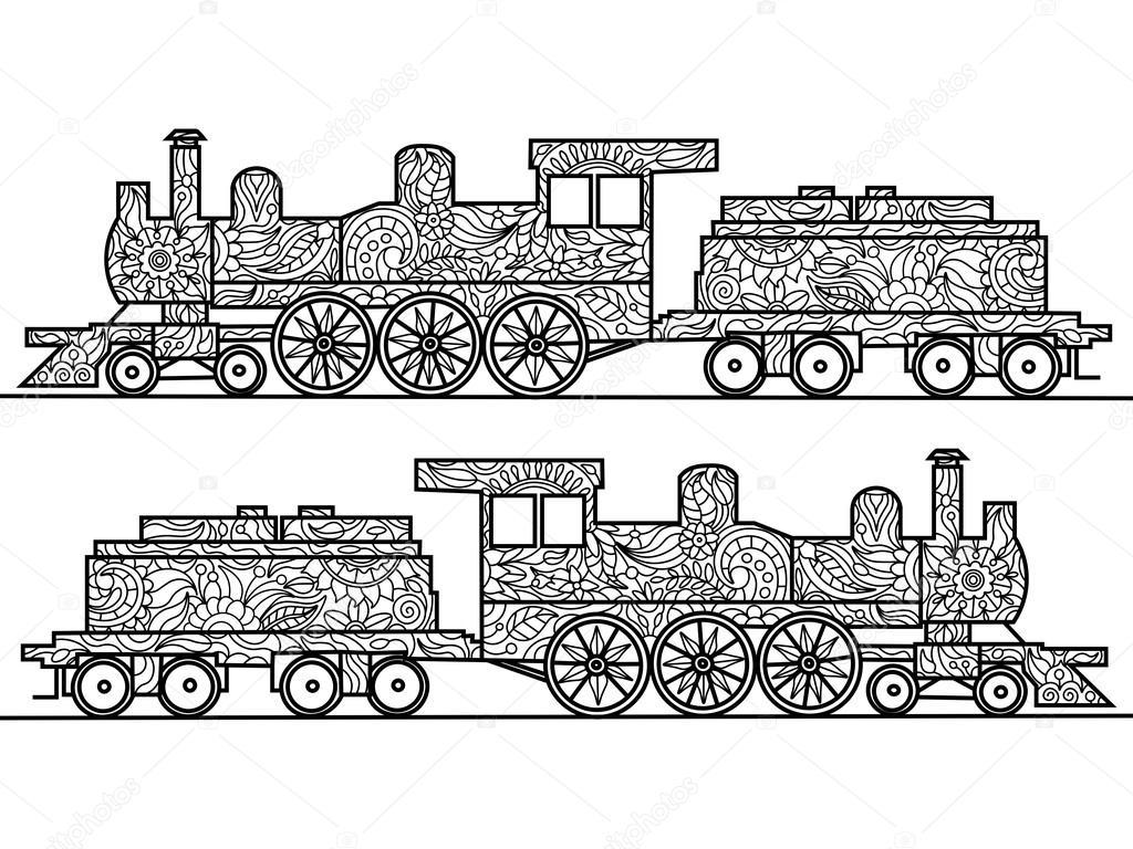 Imágenes Trenes De Vapor Para Dibujar Libro Para Colorear