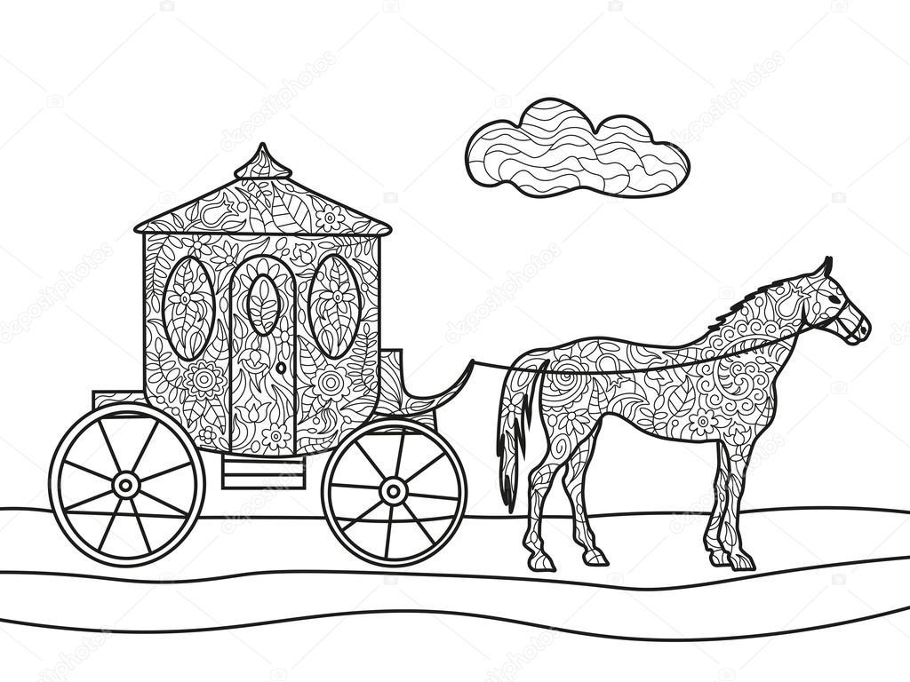 inspirerende paarden kleurplaat volwassenen krijg