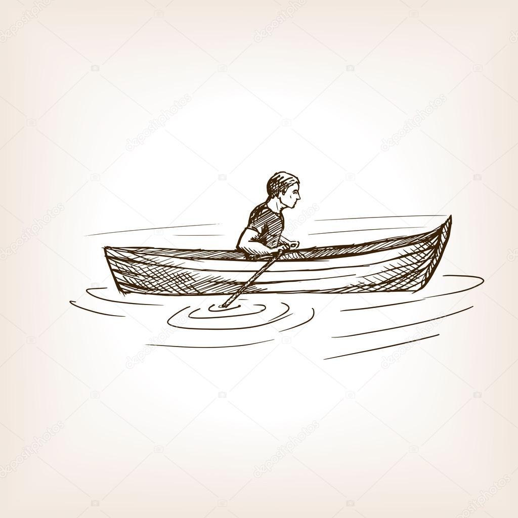 Учимся рисовать лодку шаг за шагом
