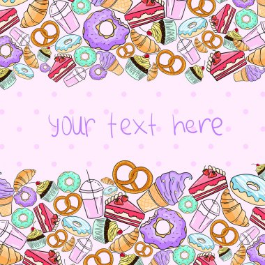 Croissant cake icecream placeholder text