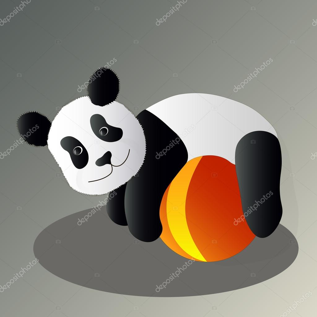 Panda drunk vector illustration