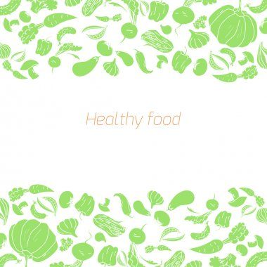 Text placeholder green vegetables background